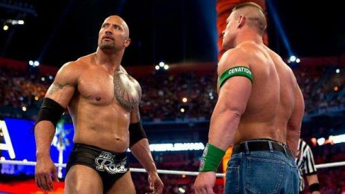The Rock and John Cena have faced each other twice already.