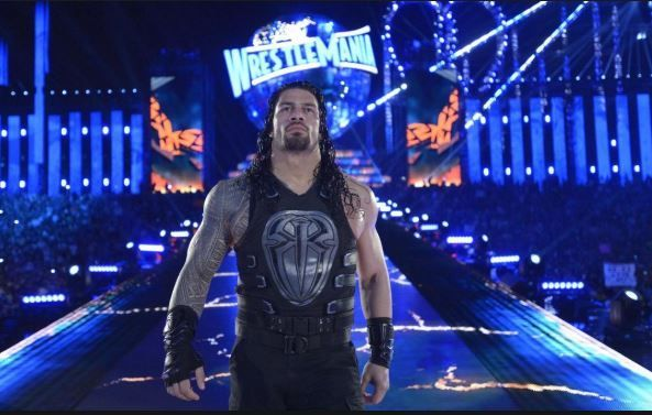 roman reigns in wrestlmania