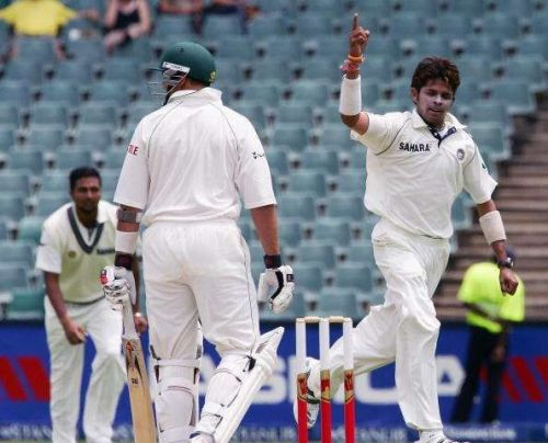 Sreesanth's display of perfect swing bowling helped India win their first Test match in South Africa