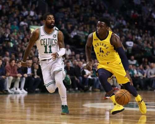 Kyrie and Oladipo in action, February 2018