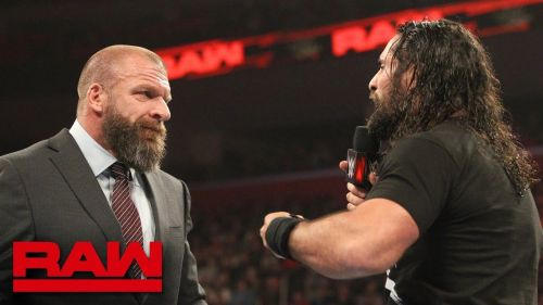 Triple H fired Seth Rollins up on RAW this past week