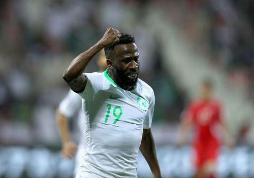 Saudi Arabia's Fahad Al-Muwallad has scored twice for Saudi Arabia