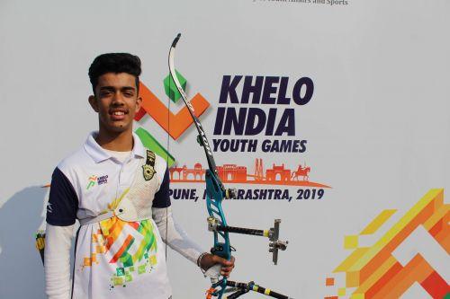 Archer Vinayak Verma of Punjab at Khelo India Youth Games