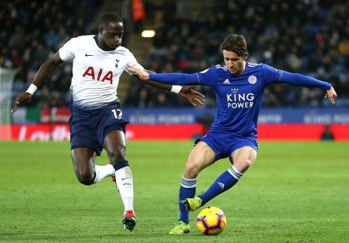Ben Chilwell in action against Tottenham Hotspur