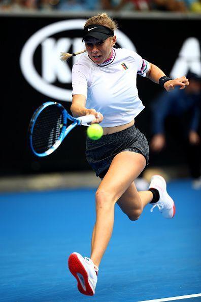 2019 Australian Open - Day 5 - Amanda Anisimova continued her giant killing run