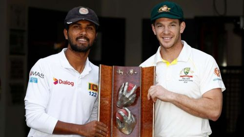 Dinesh Chandimal & Tim Paine
