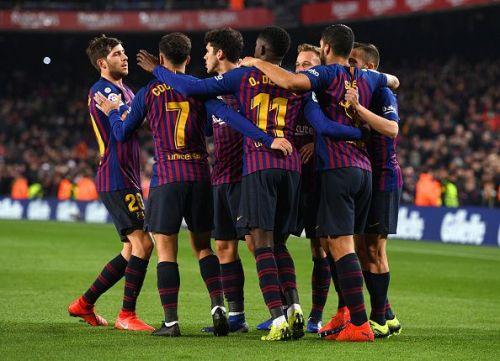 Barcelona claimed the three points