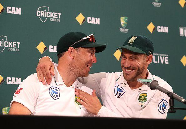 Kyle Abbott and Faf du Plessis