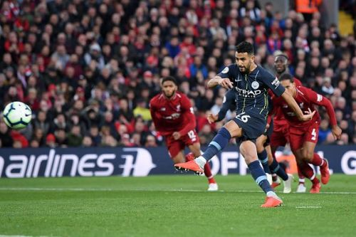 Riyad Mahrez missed a penalty against Liverpool in their first league clash earlier in the season