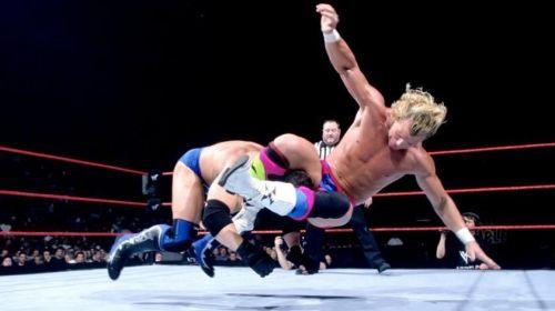 BA Billy Gunn hits the Fameasser on Ken Shamrock in the IC Title match