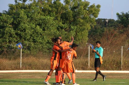 South United FC celebrate after scoring