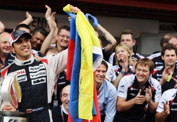 Maldonado secured a famous win in 2012