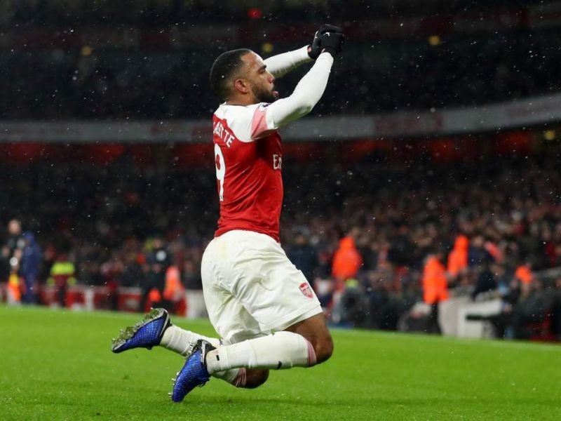 Lacazette combined very well with Aubameyang in the second half of the game