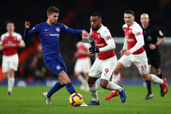 Jorginho was not given any breather by the Arsenal players
