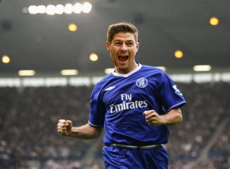 Gerrard in a Chelsea kit - but it never happened outside the realm of image editors