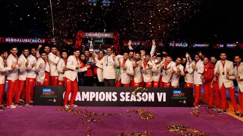 Bengaluru Bulls - Pro Kabaddi Season 6 Champions!