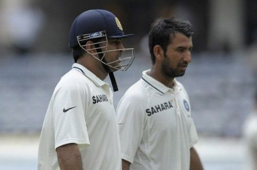 Pujara and Dhoni