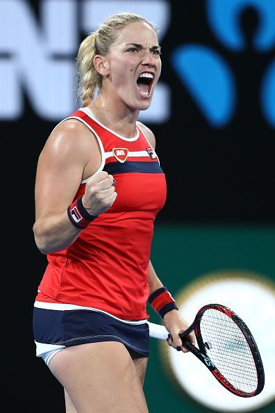Timea Babos came up trumps after winning the crucial points which tilted the match in her favor