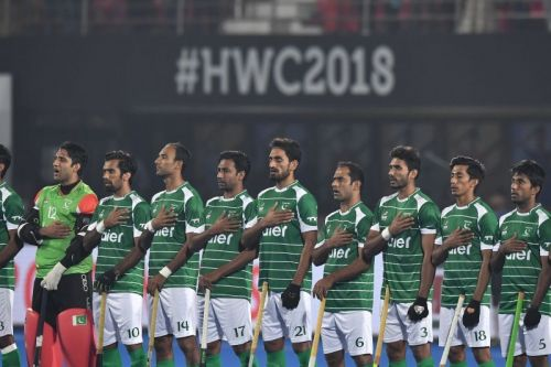 File photo of  Pakistani national team in Hockey World Cup 2018