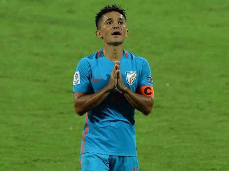 Sunil Chhetri scored a brace against Thailand