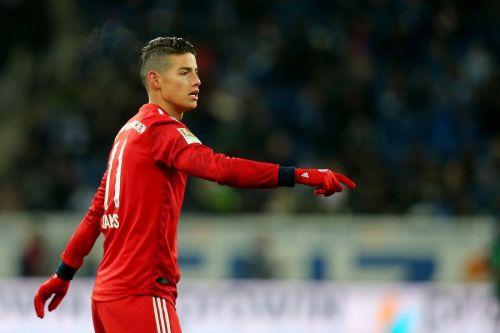 James Rodriguez is not having his best season at Bayern