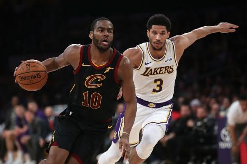 Alec Burks in action during the Cavaliers' surprising win over the Lakers at Staples Center