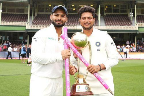 Rishabh Pant and Kuldeep Yadav, Australia v India - 4th Test: Day 5
