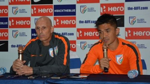 Stephen Constantine and Sunil Chhetri