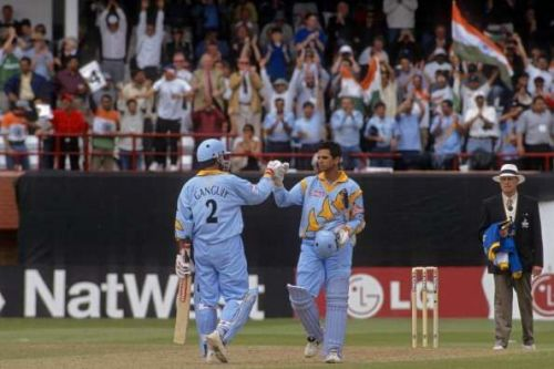 Ganguly (left) and Dravid