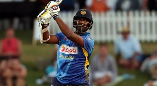 Image result for New Zealand versus Sri Lanka 2nd ODI 2019 Thisara Perera