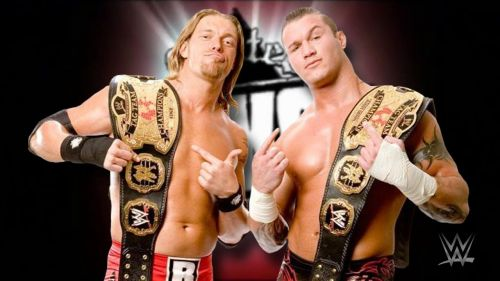 Both former World Champions, Edge and Randy Orton had great success as a tag team.