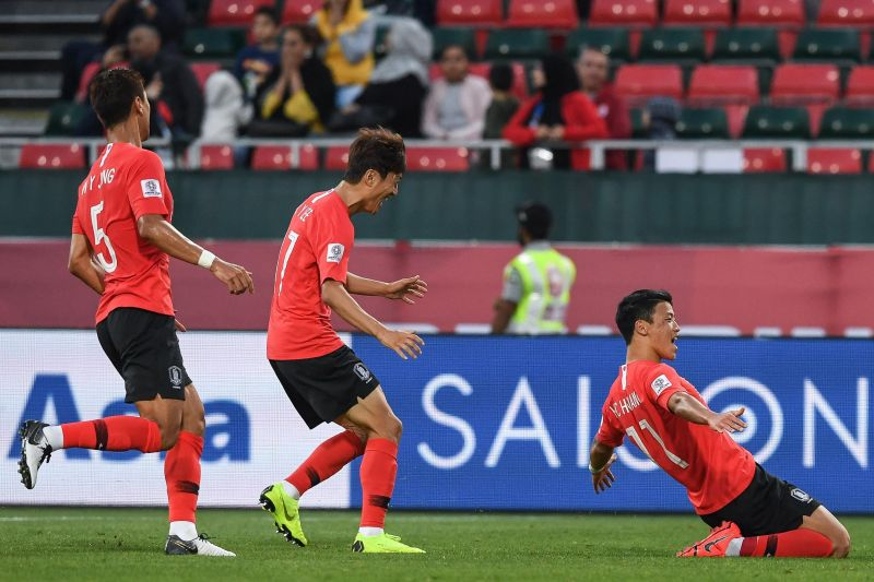 Hwang Heechan scored in the first half to give Korea the lead.