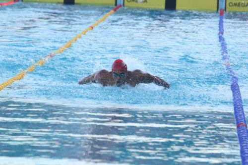Boys U-21 100m butterfly Gold Medalist Mihir Ambre (Maharashtra) in action at Khelo India Youth Games