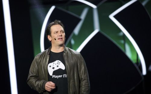 Phil Spencer at the 2017 E3 event