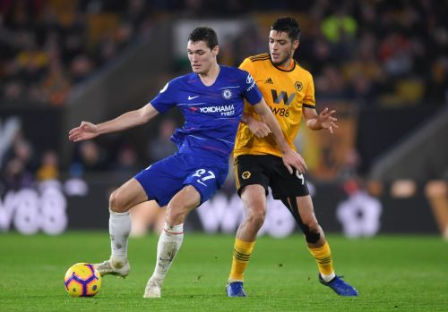 Christensen (left) may be on his way out of Stamford Bridge