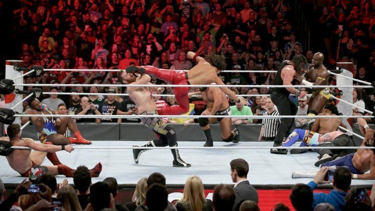 There are 10 spots left in the Royal Rumble match.