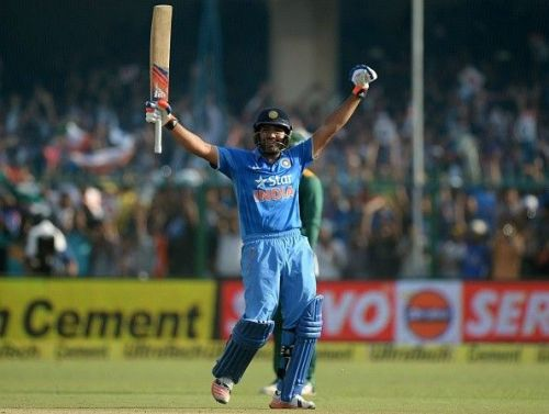 Rohit Sharma smashed South Africa's pace attack to all corners