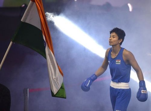 World Championship bronze medallist Assam's Lovlina Borgohain claimed the gold medal while Haryana boxer Manisha Moun had to be content with silver