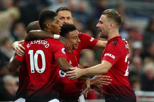 Tottenham Hotspur v Manchester United - Rashford Celebrating after a Brilliant Goal