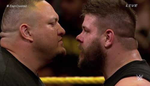 Samoa Joe made his first appearance in NXT after the Title match between Kevin Owens and Sami Zayn