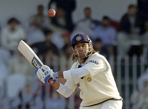 The 148 against Pakistan was Dhoni's first Test century