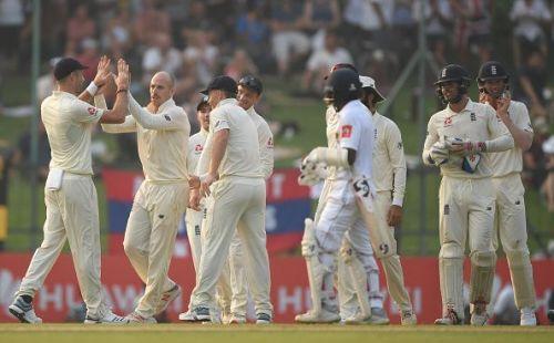 England Cricket Team in Srilanka