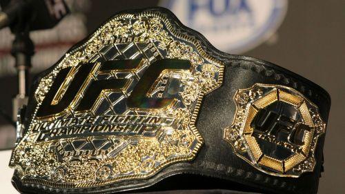 The classic UFC belt design