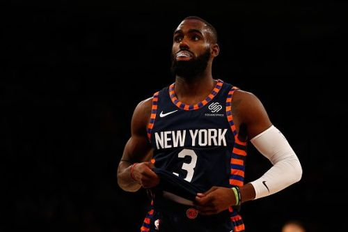 Action from Milwaukee Bucks v New York Knicks