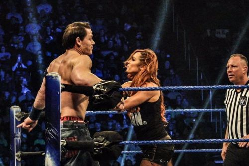 Becky Lynch and John Cena teamed on SmackDown