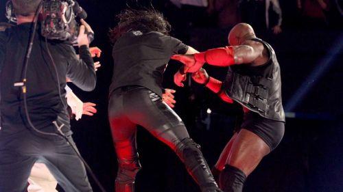 Rollins clobbers Lashley!