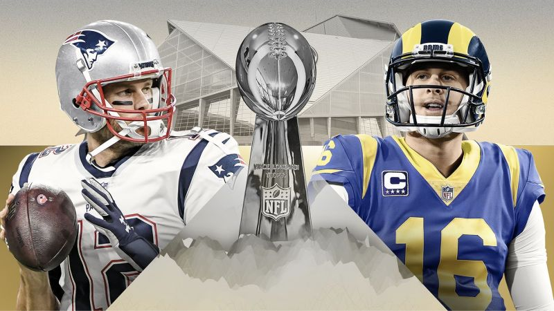 Who are you rooting for? Patriots or the Rams? [Image: ESPN]