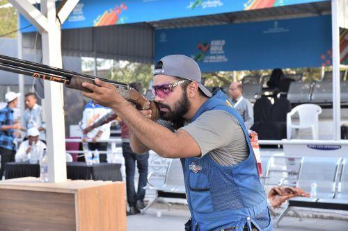 Gurnihal Singh Garcha (Punjab), gold medal winner of Boys Skeet event at Khelo India Youth Games