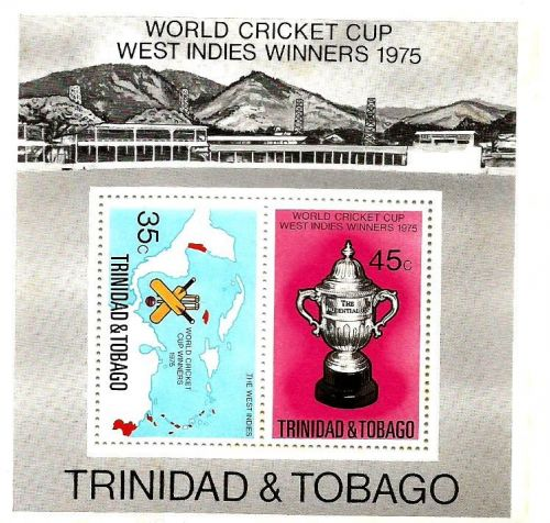 Miniature sheet issued by Trinidad and Tobago during the 1975 World Cup