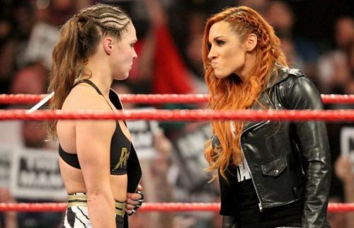 Ronda Rousey confronts Becky Lynch on Monday Night Raw